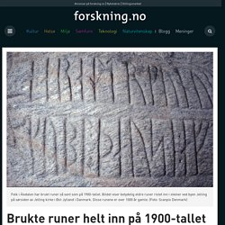 Brukte runer helt inn på 1900-tallet