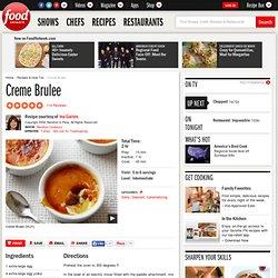 Creme Brulee Recipe : Ina Garten