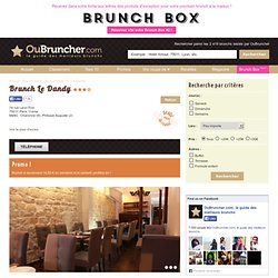 Brunch Le Dandy (75011 Paris 11eme