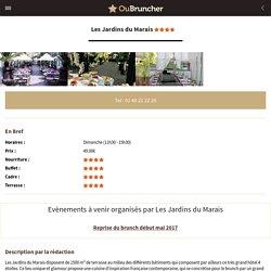 Brunch Les Jardins du Marais (75011 Paris 11ème) - OuBruncher