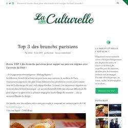 Top 3 des brunchs parisiens - Le Blog de la Box Culturelle
