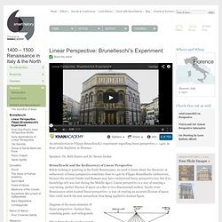 Linear Perspective: Filippo Brunelleschi's Experiment