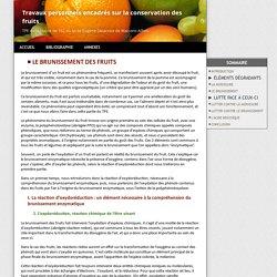Le brunissement des fruits - La conservation alimentaire