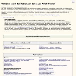 Arndt Brünners Mathematik-Seiten