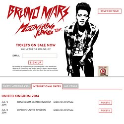 Bruno Mars | France Home - BrunoMars.com
