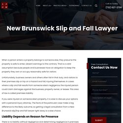 New Brunswick Slip and Fall Lawyer