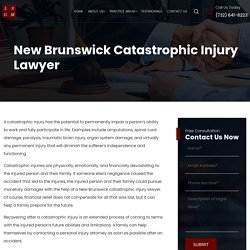 New Brunswick Catastrophic Injury Lawyer