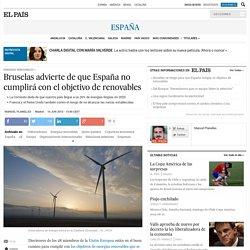 Bruselas advierte de que España no cumplirá con el objetivo de renovables