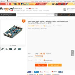 Micro Scisky 32bits Brushed Flight Control Board Built-in DSMX/DSMX Compatible RX Based Naze32 For QX100 Sale - Banggood.com