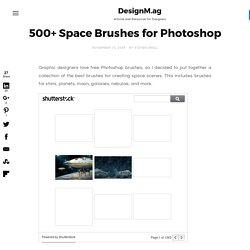 500+ Space Brushes for Photoshop