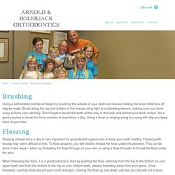 Brushing & Flossing - Arnold Orthodontics