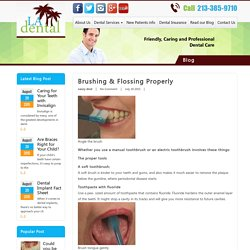 Brushing and Flossing Properly - LA Dental Clinic