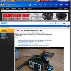 DIY Brushless Gimbal For GoPro & Nex5