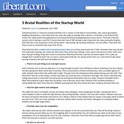 5 Brutal Realities of the Startup World