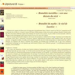 Brutalités invisibles : vers une théorie du récit (1)