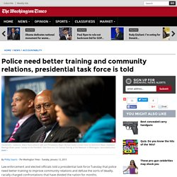 Police brutality solutions are training, community relations