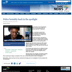 Police brutality back in the spotlight:Wednesday 3 December 2014
