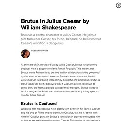 the power of brutus speech in the play julius caesar by william shakespeare Julius caesar study guide contains a biography of william shakespeare julius caesar by william shakespeare buy study guide and although he loves caesar, brutus fears caesar is too power hungry.