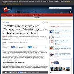 Bruxelles confirme l'absence d'impact négatif du piratage sur les ventes de musique en ligne