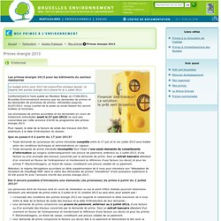 Primes énergie 2013 - S'informer
