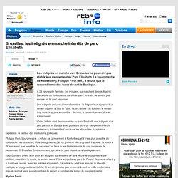 Bruxelles: les indignés en marche interdits de parc Elisabeth