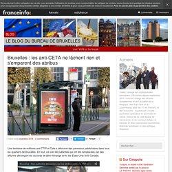 Bruxelles : Les Anti-CETA Ne Lâchent Rien Et S'emparent Des Abribus