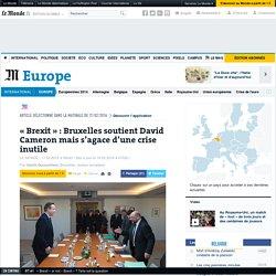 «Brexit»: Bruxelles soutient David Cameron mais s'agace d'une crise inutile
