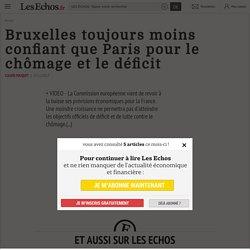 Conjoncture, déficits 2016 : Bruxelles toujours moins confiant que Paris pour le chômage et le déficit, Conjoncture