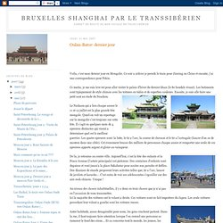 Bruxelles Shanghai par le Transsibérien