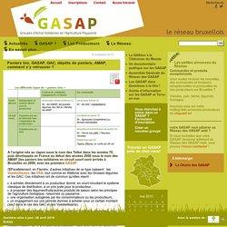 réseau des GASAP Bruxellois : Paniers bio, GASAP, GAC, dépôts de paniers, AMAP, comment s'y retrouver?