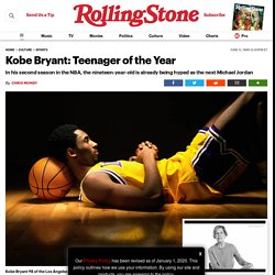 Kobe Bryant: Lakers Rookie Is Teenager of the Year in 1998