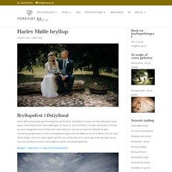Se flotte bryllupsbilleder fra brylluppet Østjylland