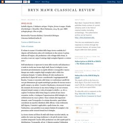 Bryn Mawr Classical Review: December 2015