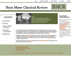 The Bryn Mawr Classical Review