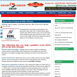 BSNL JTO Exam Tips