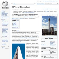 BT Tower (Birmingham) - Wikipedia