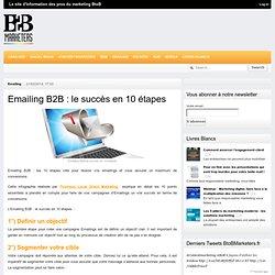 BtoBMarketers.frEmailing B2B : le succès en 10 étapes