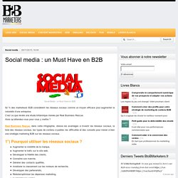 BtoBMarketers.frSocial media : un Must Have en B2B