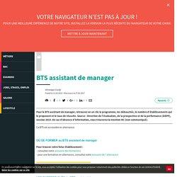 BTS AM - BTS assistant de manager - L'Etudiant