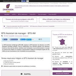 BTS Assistant de manager - BTS AM