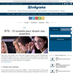 BTS: 10 conseils pour réussir ses examens