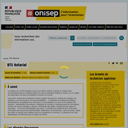 BTS Notariat - Onisep