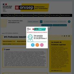 BTS Professions immobilières - Onisep