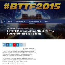 #BTTF2015: Something 'Back To The Future'-Related Is Coming