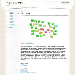 Bubbl.us - Web 2.0 Tools