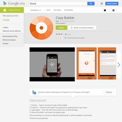 Copy Bubble - Aplicaciones de Android en Google Play