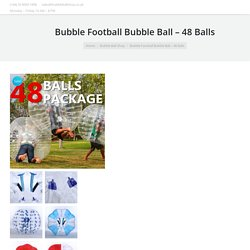 Bubble Football Bubble Ball - 48 Balls