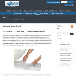 Strong Bubble Wrap Near Me– Packing Solution