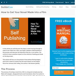 How to Get Your Novel Made into a Film