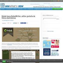 Bubok lanza BubokWriter, editor gratuito de libros electrónicos